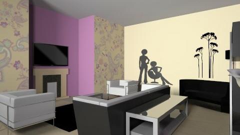 Yellow living room - Living room - by vydrovamisulka1