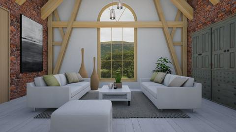 Barn home - Living room - by Tutsi