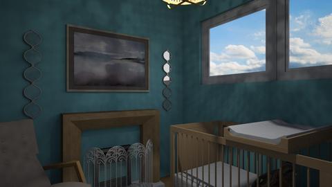 Flat 24 Baby Blues - Rustic - Kids room - by RaeCam