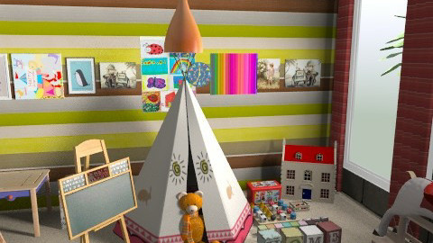 Appropriate playing room - Eclectic - Kids room - by vadmacsek95
