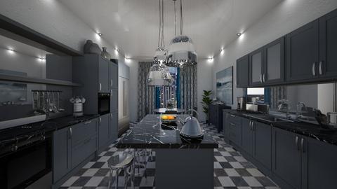 Bleu - Living room - by tomorrowneverdie22