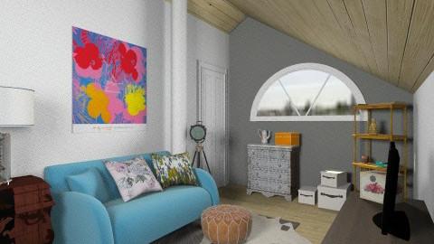 White Attic loft - Vintage - Living room - by natalie_biggane145