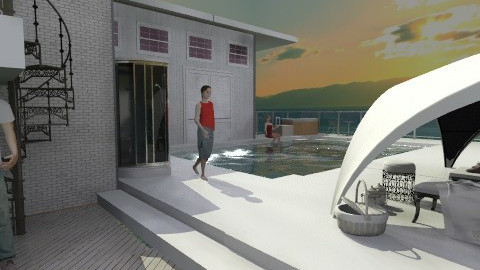 home spa and pool - Modern - Garden - by auntiehelen