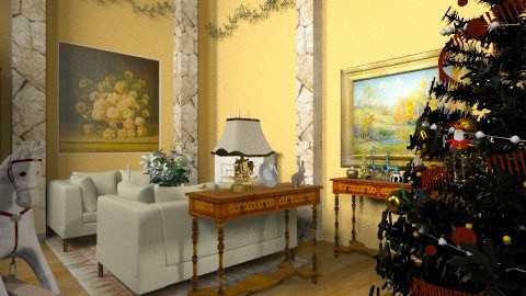 Christmas at Orchard Rd - Country - Living room - by PomBom