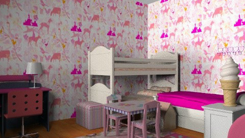 High fashion room - Retro - Kids room - by prettygurlmya