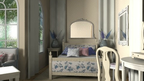 cream-blue - Vintage - Bedroom - by chania