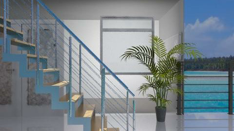 vision azul con rojo - Modern - Garden - by ARMIDA 1