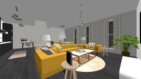 yellow chairs - Living room - by ne078712