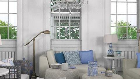 finally blue - Country - Living room - by naki1
