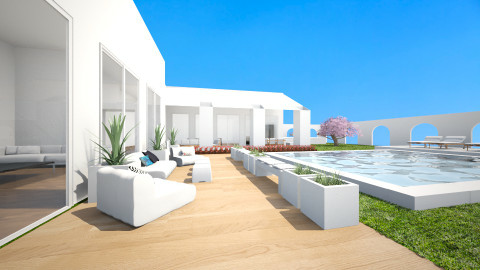 villa garden - Modern - Garden - by Irene Klinkenberg