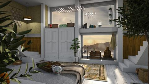 white everywhere - Modern - Bedroom - by jjannnii