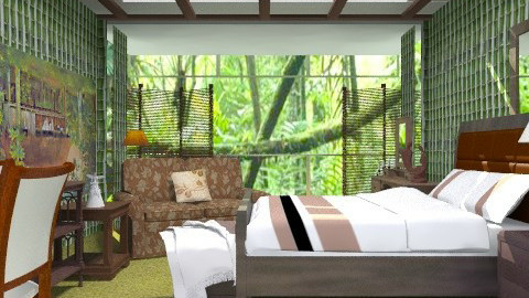 Jungle visions - Classic - Bedroom - by milyca8