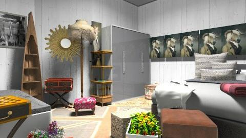 vintage room - Vintage - Bedroom - by krity