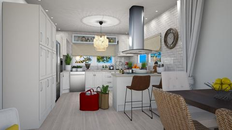 JKB Kitchen with Island - Kitchen - by JarkaK