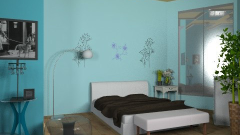 Blue reflection - Modern - Bedroom - by ioanavladut7