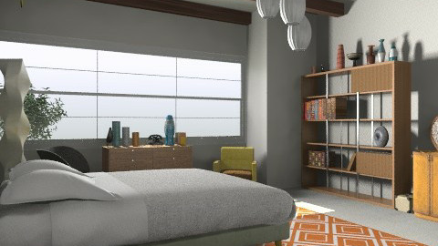 CA inspired EAMES room - Retro - Bedroom - by judimay11