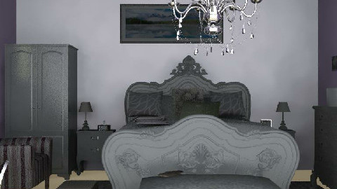 Irenes Lilac and Silver Sanctuary - Bedroom - by AustinPowers