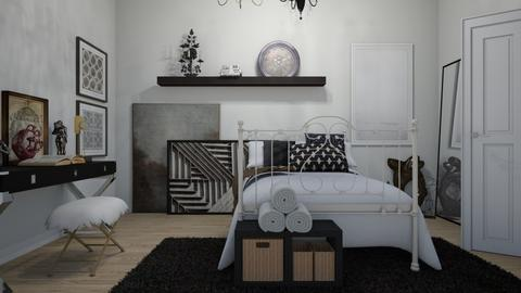 art lover bedroom - by ANAAPRIL