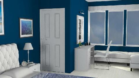 Blue Bedroom - Bedroom - by Gloria B