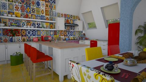 family2 - Eclectic - Kitchen - by donella