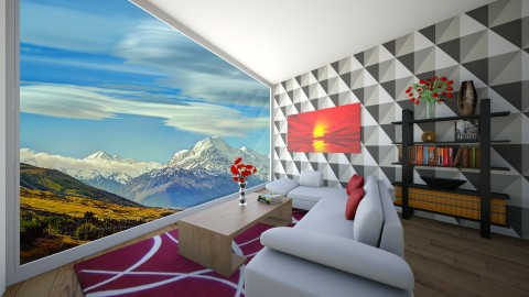 Hill Side  - Modern - Living room - by aaron97