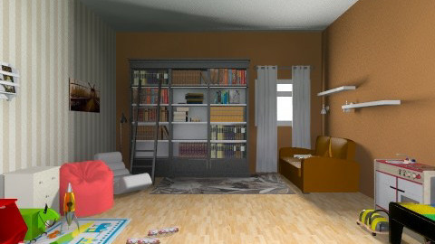 Ftr Reading and playing - Living room - by yellowsubmarine