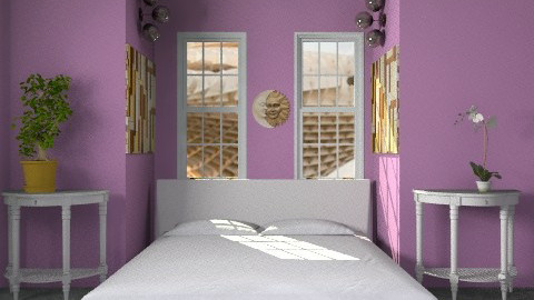 purple - Modern - Bedroom - by lavilavinia