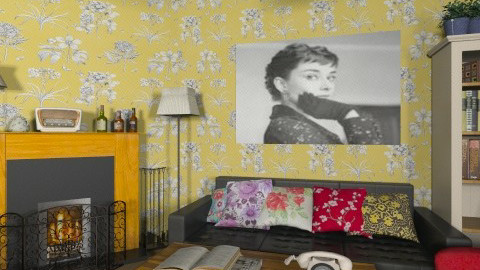 Back in time - Retro - Living room - by Ivana J
