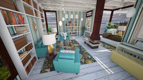 Rainy Day Blues - Retro - Living room - by JRem224