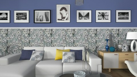 Blue Inspired - Modern - Living room - by janip