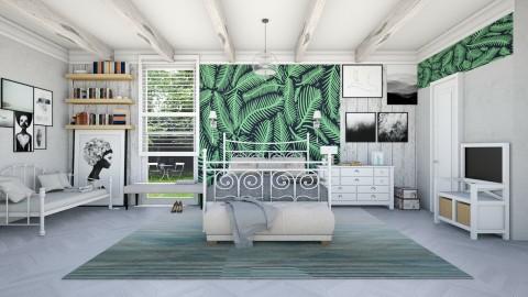 green bedroom - by gvidiani_nina
