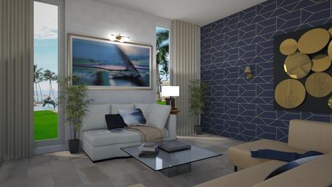 Blue Invitation 3 - Living room - by TrustKisha