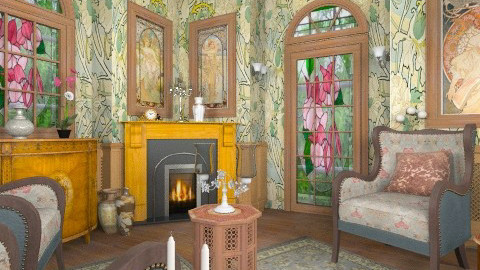 Shelly Vintage Livingroom - Classic - Living room - by Bibiche