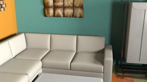 orange and blue - Modern - Living room - by clo_bug12
