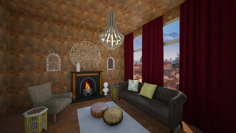 Moroccan wood room - Living room - by LaV interior