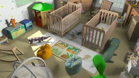baby boy nd gal's nursery room - Modern - Kids room - by shivu