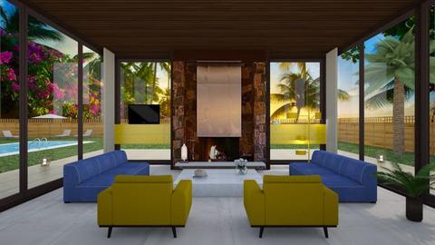 Leonardo DiCaprio - Eclectic - Living room - by Elenn