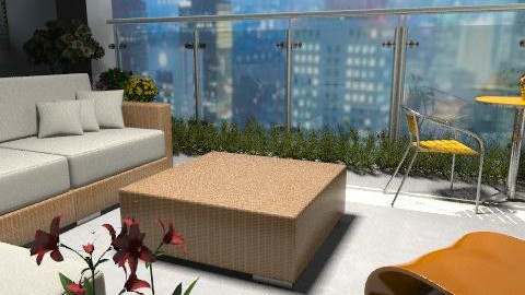 the view from the balcony - Modern - Garden - by auntiehelen