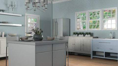 Blue Kitchen - Classic - Kitchen - by reedj0218