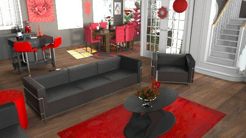 red and black christmas - Eclectic - Kitchen - by Lizette Najera