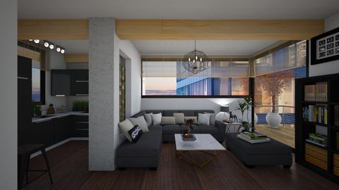 Modern Harmony - Living room - by michalbank11
