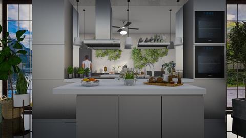 Jungle Kitchen - Kitchen - by lilyamc