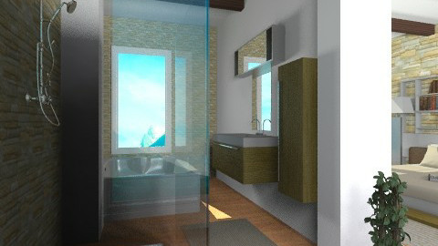 Combo Rm - Modern - Bathroom - by channing4