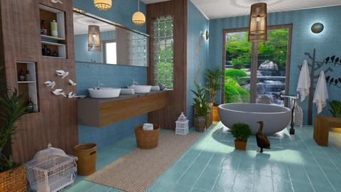happy birds - Bathroom - by Moonpearl