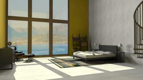 yellow city big W - Minimal - Bedroom - by benss