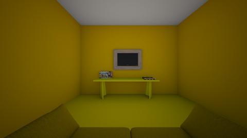 yellow - Living room - by the black ninja
