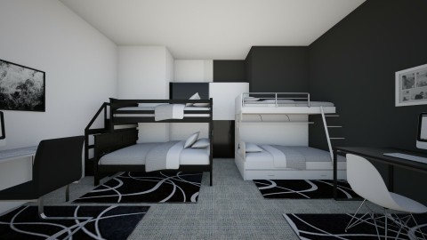 black and white share - Modern - Bedroom - by BlacBree