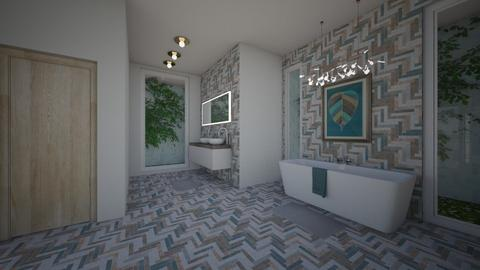 Funky Family bathroom - Retro - Bathroom - by Jessica098