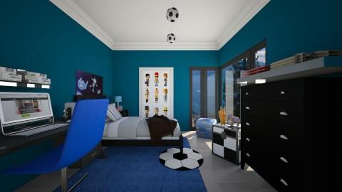 Boys Room - Bedroom - by Jhiinyat