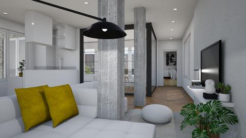 Living with Columns - Living room - by indira Massekele